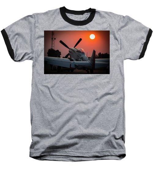 P51 Sunset Baseball T-Shirt