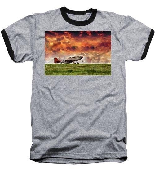 P51 Warbird Baseball T-Shirt