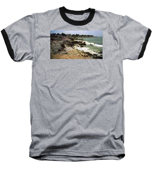 Pacific California Coast Beach Baseball T-Shirt by Ted Pollard