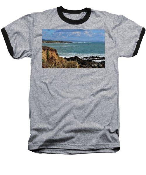 Pacific Coast View At Low Tide Baseball T-Shirt