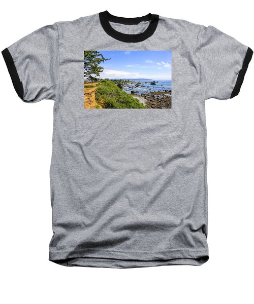 Pacific Coastline In California Baseball T-Shirt by Chris Smith