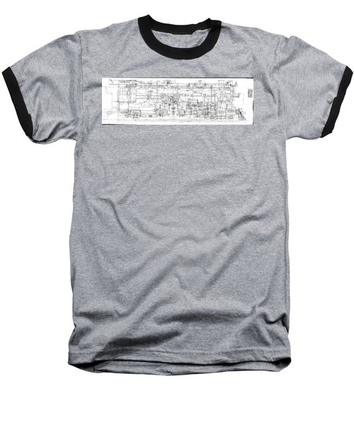Pacific Locomotive Diagram Baseball T-Shirt