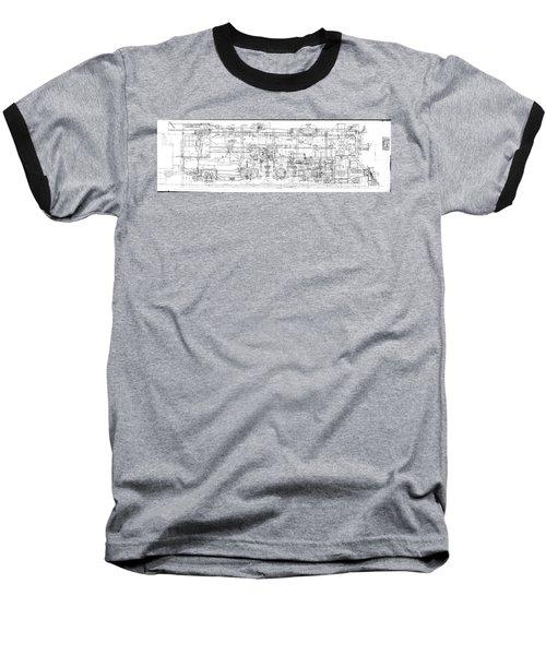 Pacific Locomotive Diagram Baseball T-Shirt