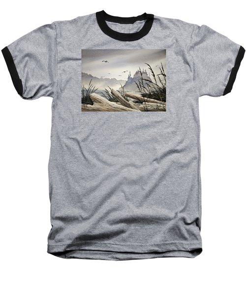 Pacific Northwest Driftwood Shore Baseball T-Shirt