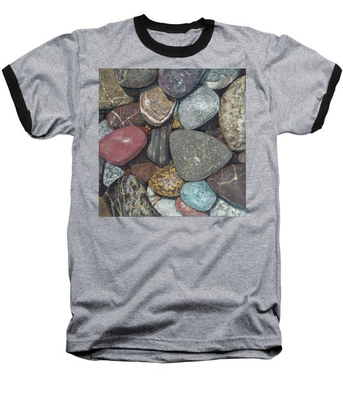 Pacific Nw Beach Rocks Baseball T-Shirt