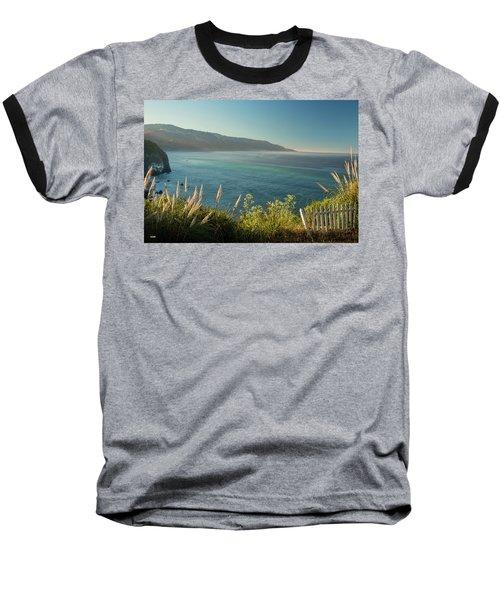 Pacific Ocean, Big Sur Baseball T-Shirt by Dana Sohr