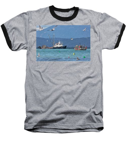 Pacific Ocean Herring Baseball T-Shirt by Randy Hall