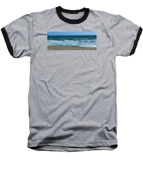 Pacific Ocean - Malibu Baseball T-Shirt by Nora Boghossian