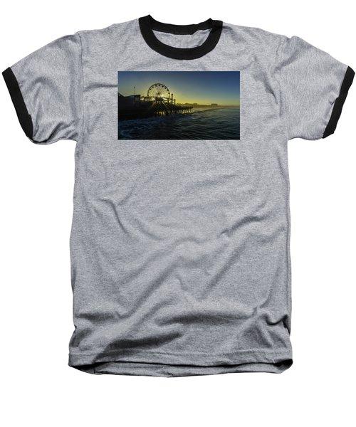 Pacific Park Ferris Wheel Baseball T-Shirt