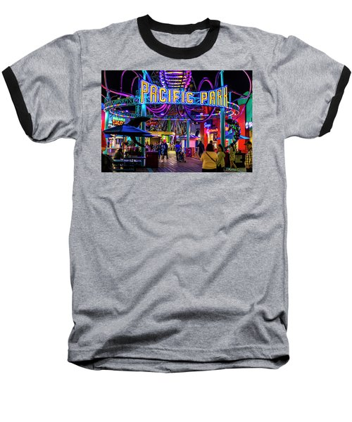 Pacific Park - On The Pier Baseball T-Shirt