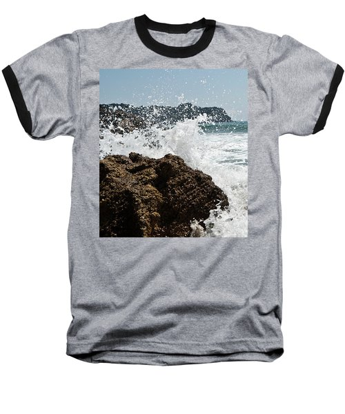 Baseball T-Shirt featuring the photograph Pacific Splash by Yurix Sardinelly