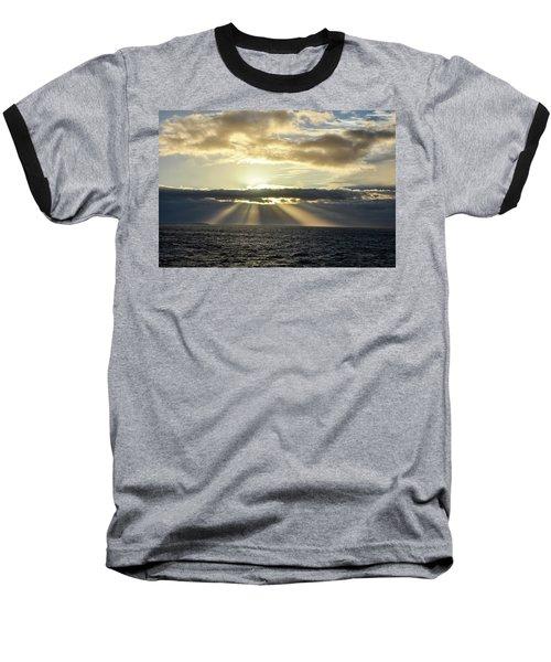 Baseball T-Shirt featuring the photograph Pacific Sunset by Allen Carroll