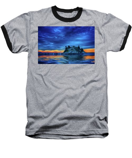 Baseball T-Shirt featuring the photograph Pacific Sunset by John Poon
