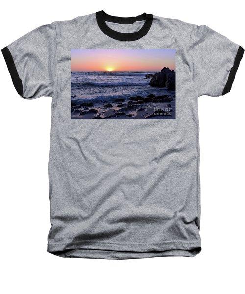 Pacific Twilight Baseball T-Shirt by Gina Savage