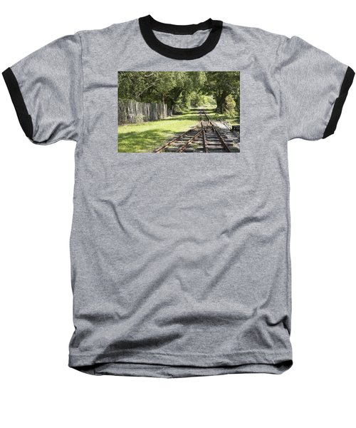 Baseball T-Shirt featuring the photograph Padarn Lake Railway by Christopher Rowlands