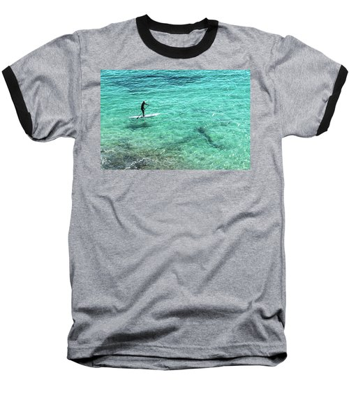 Paddle The Aqua Sea Baseball T-Shirt