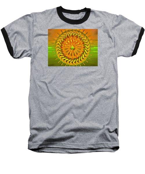 Baseball T-Shirt featuring the digital art Paddlewheel Mandala by Mario Carini