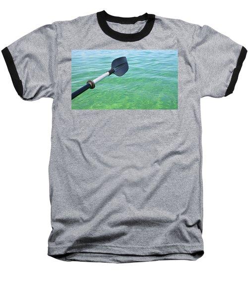 Paddling Grand Traverse Bay Baseball T-Shirt