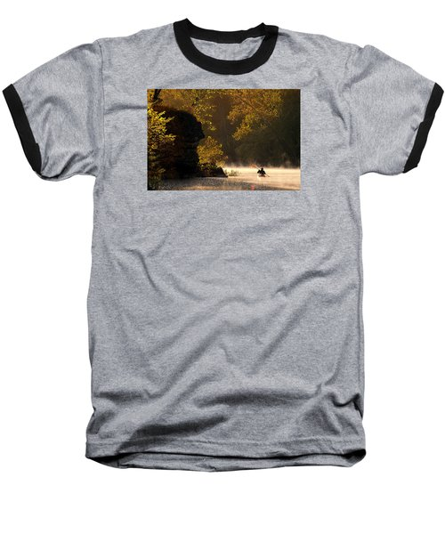 Paddling In Autumn Baseball T-Shirt by Robert Charity