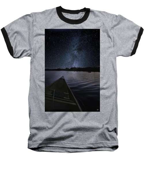 Paddling The Milky Way Baseball T-Shirt
