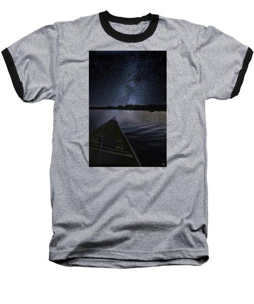 Paddling The Milky Way Baseball T-Shirt