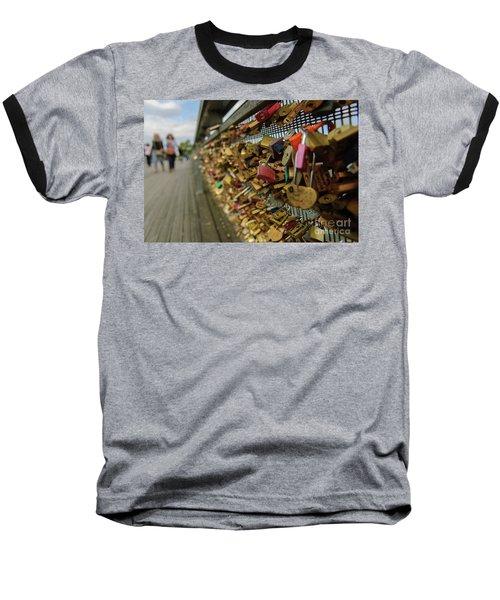 Padlock Bridge Baseball T-Shirt