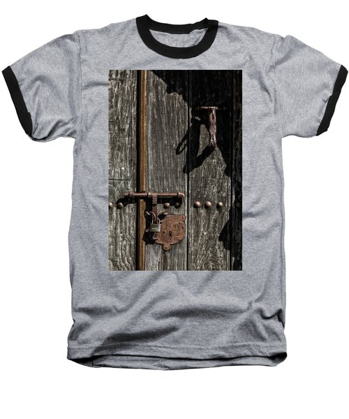 Padlock Baseball T-Shirt by Edgar Laureano