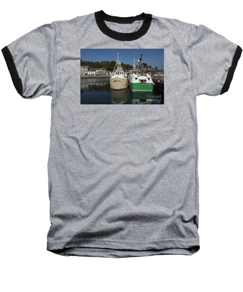 Padstow Fishing Boats Baseball T-Shirt