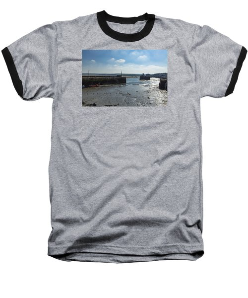 Padstow Harbour Baseball T-Shirt by Brian Roscorla