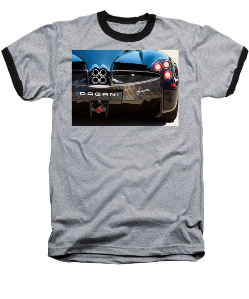 Pagani Huayra Black Baseball T-Shirt