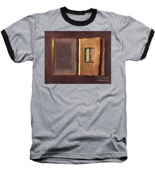 Baseball T-Shirt featuring the painting Page Format No 2 Transitional Series  by Kerryn Madsen-Pietsch