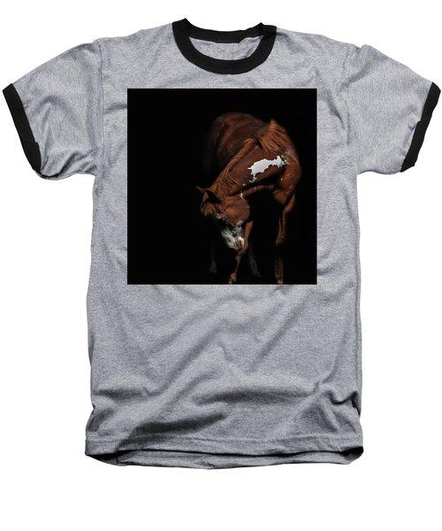 Paint In Black II Baseball T-Shirt