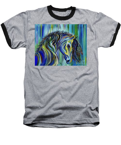 Paint Native American Horse Baseball T-Shirt by Janice Rae Pariza