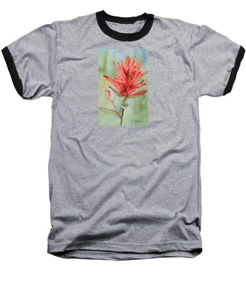 Paintbrush Portrait Baseball T-Shirt