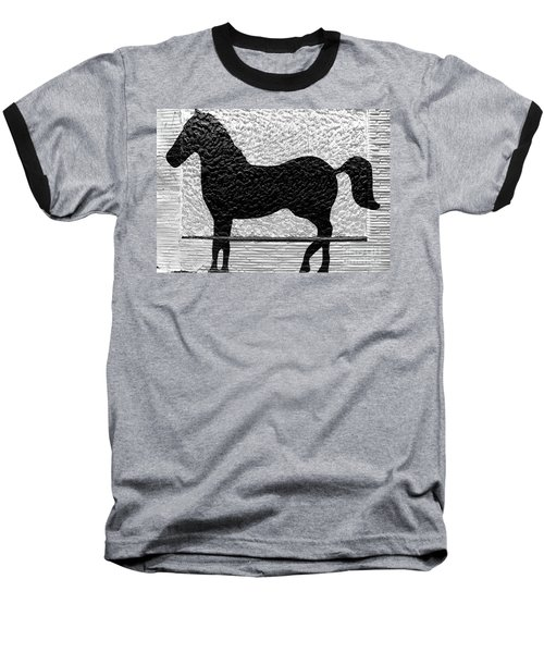 Baseball T-Shirt featuring the photograph Painted Black - Stone Pony by Colleen Kammerer