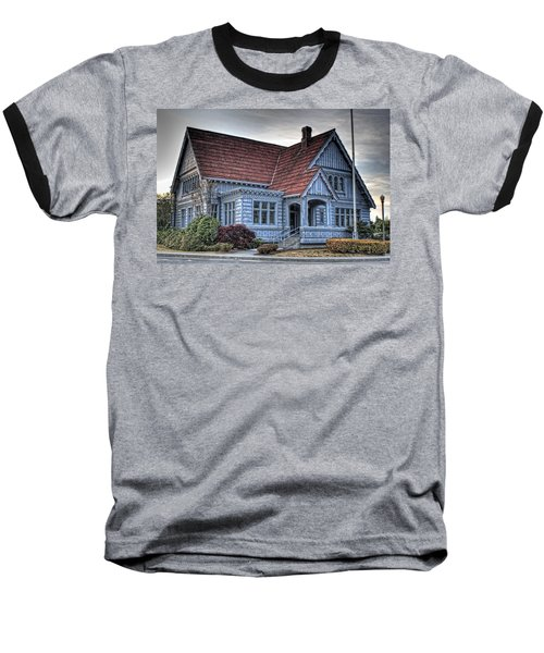 Painted Blue House Baseball T-Shirt