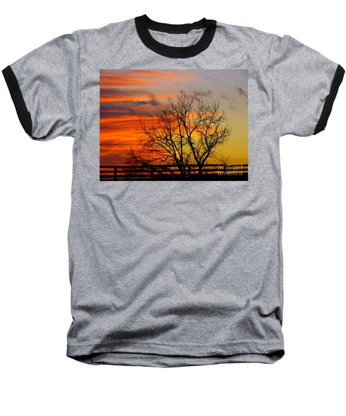 Baseball T-Shirt featuring the photograph Painted By The Sun by Donald C Morgan