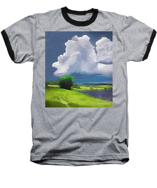 Painted Clouds Baseball T-Shirt