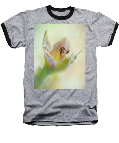 Painted Daylily Baseball T-Shirt
