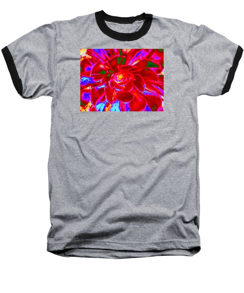 Carnival Colors Baseball T-Shirt by Vivien Rhyan