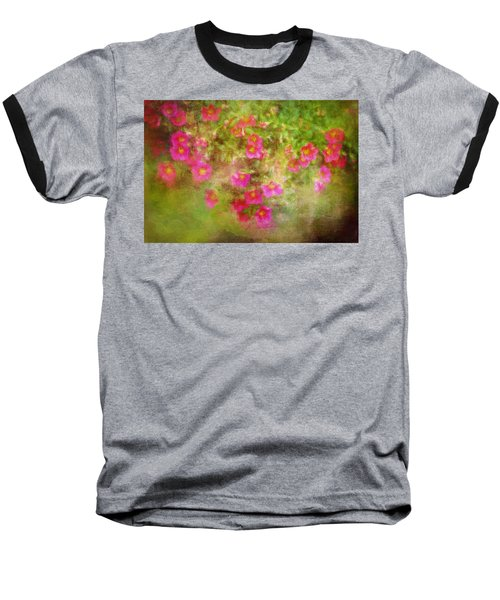 Painted Flowers Baseball T-Shirt