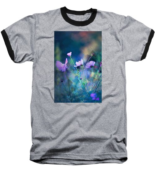 Painted Flowers Baseball T-Shirt by John Rivera