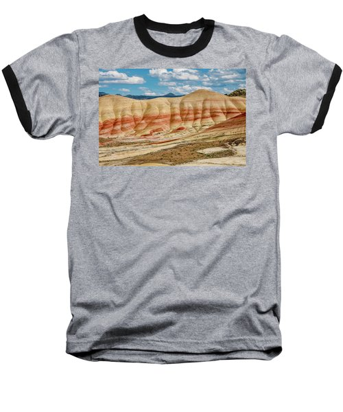Baseball T-Shirt featuring the photograph Painted Hills And Afternoon Sky by Greg Nyquist