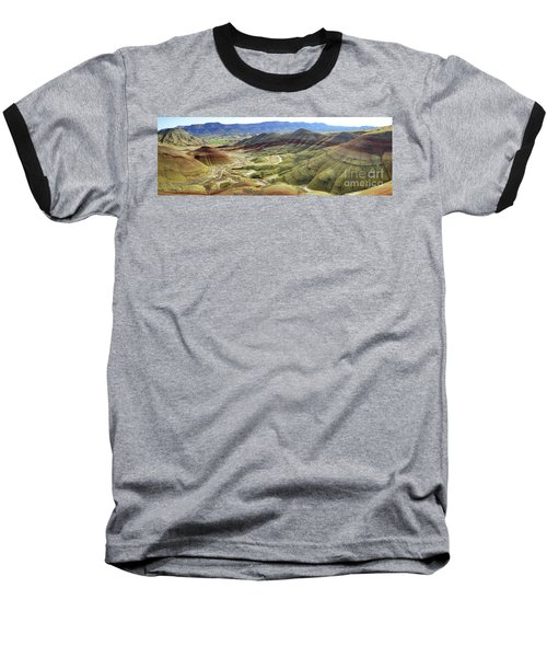 Painted Hills Panorama  Baseball T-Shirt