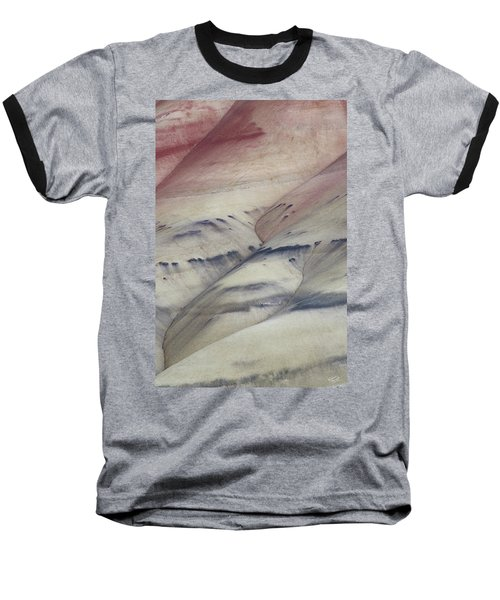 Baseball T-Shirt featuring the photograph Painted Hills Textures 2 by Leland D Howard