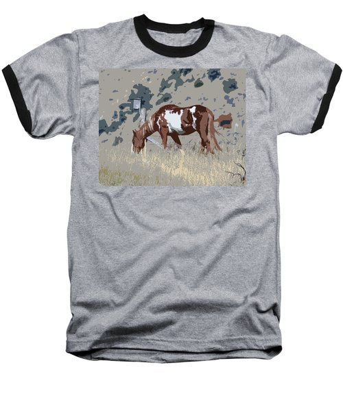 Baseball T-Shirt featuring the photograph Painted Horse by Steve McKinzie
