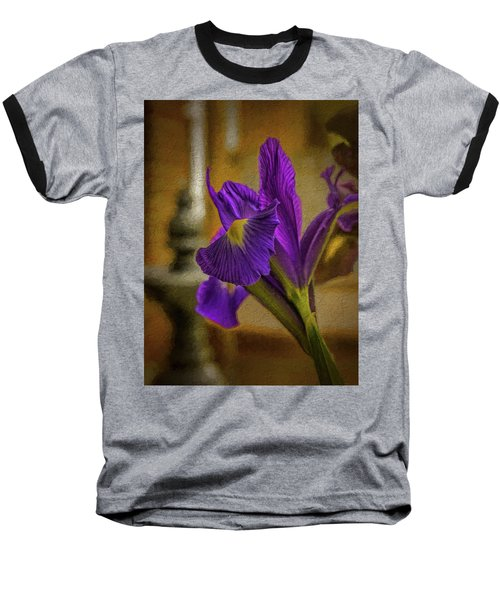 Painted Iris Baseball T-Shirt