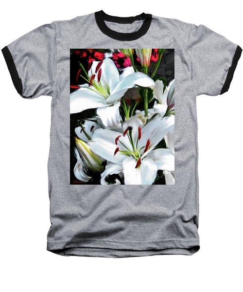 Painted Lilies Baseball T-Shirt