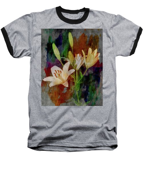 Painted Lilies Baseball T-Shirt