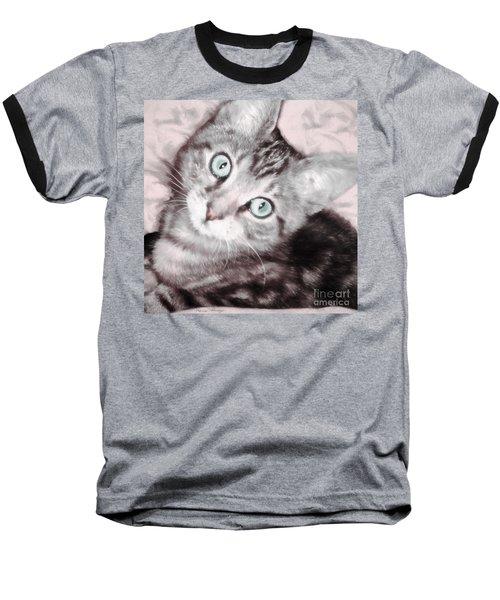 Pastel Bengal Kitten Baseball T-Shirt